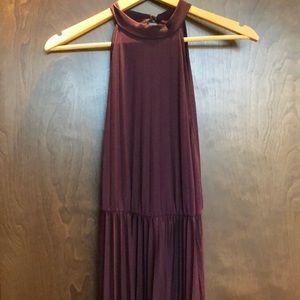 open back high neck maxi dress